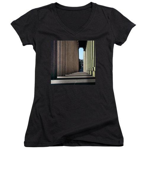 Parthenon Shadow Tunnel Women's V-Neck