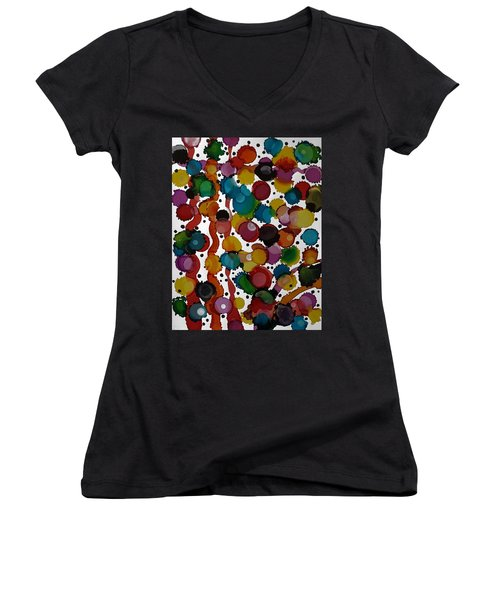 Party Time Women's V-Neck T-Shirt (Junior Cut) by Alika Kumar