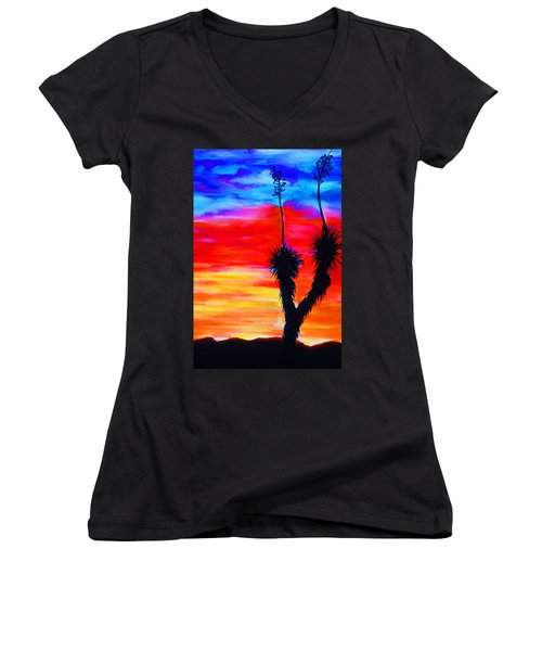 Paso Del Norte Sunset 1 Women's V-Neck