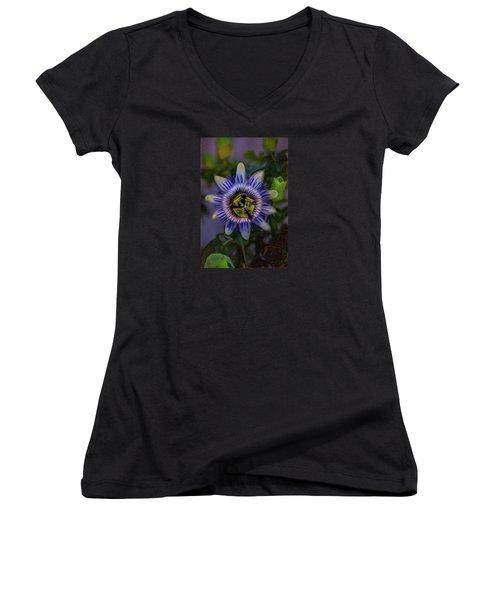 Passion Flower Women's V-Neck T-Shirt