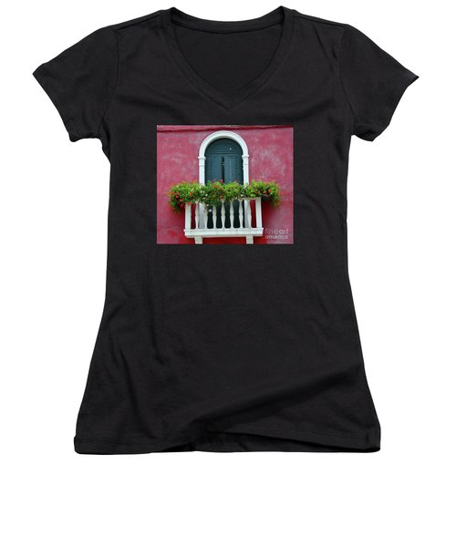 Pastel Colors Of Burano  Women's V-Neck (Athletic Fit)