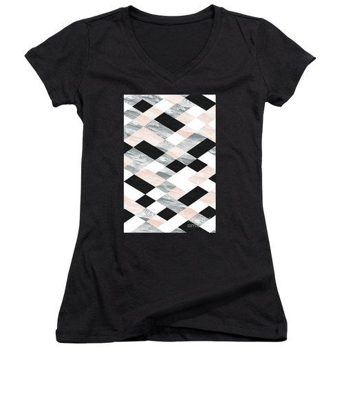 Pastel Scheme Geometry Women's V-Neck