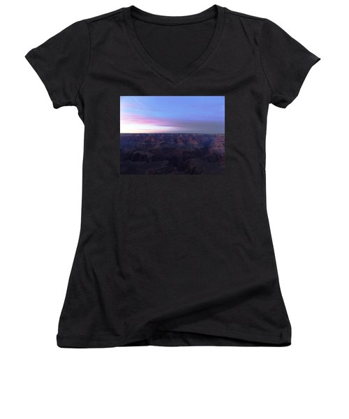 Pastel Sunset Over Grand Canyon Women's V-Neck (Athletic Fit)