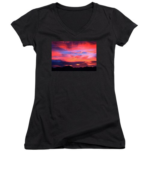 Pastel Sunset Women's V-Neck T-Shirt