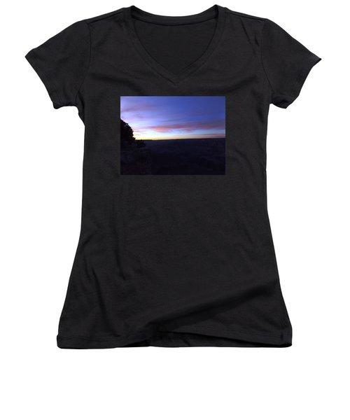 Pastels At Dark Women's V-Neck T-Shirt (Junior Cut) by Adam Cornelison