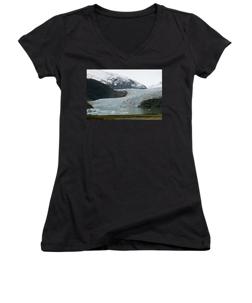 Pathway To An Icy Wonderland Women's V-Neck