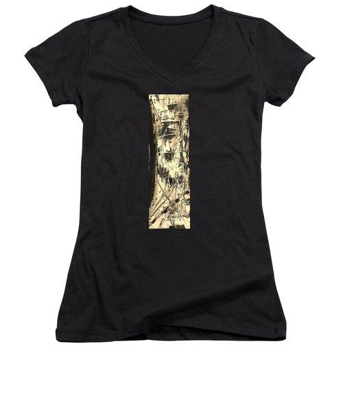 Patience Women's V-Neck T-Shirt (Junior Cut) by Carol Rashawnna Williams