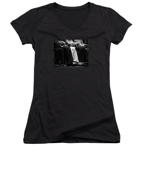 Women's V-Neck T-Shirt (Junior Cut) featuring the photograph Patiently Waiting... by Trish Mistric