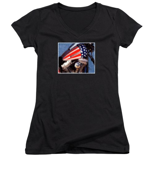 Live To Ride Women's V-Neck T-Shirt (Junior Cut) by Colleen Taylor