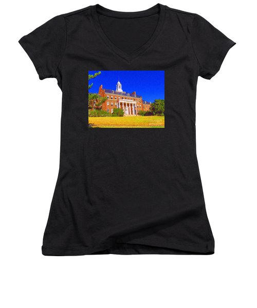 Patterson Hall  Women's V-Neck T-Shirt