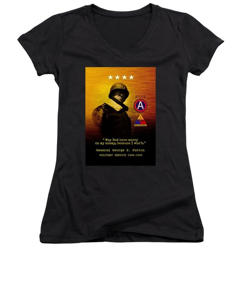 Patton Tribute Women's V-Neck T-Shirt