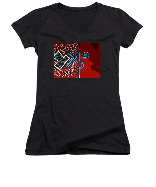 Peace Pipe Women's V-Neck (Athletic Fit)