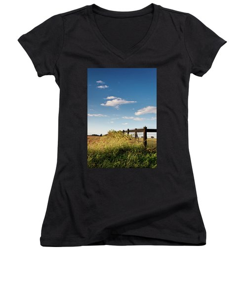 Peaceful Grazing Women's V-Neck