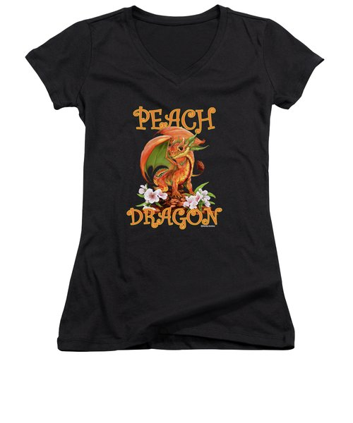 Peach Dragon Women's V-Neck