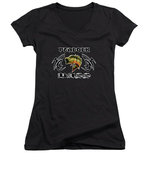 Peacock Bass 2 Women's V-Neck