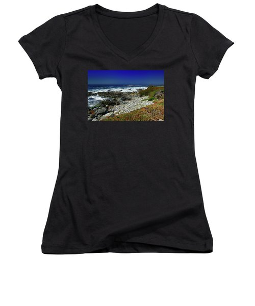 Pebble Beach Women's V-Neck T-Shirt
