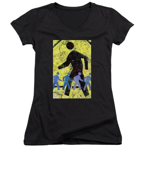 Pedestrian Women's V-Neck (Athletic Fit)