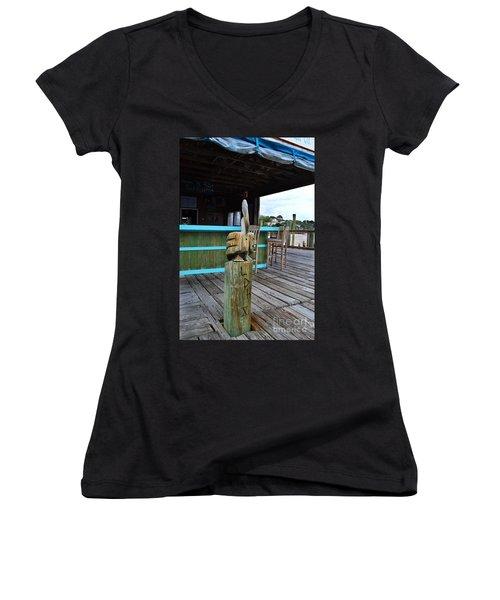 Pelican American Fish Company Women's V-Neck T-Shirt