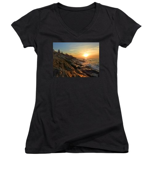 Pemaquid Lighthouse Women's V-Neck
