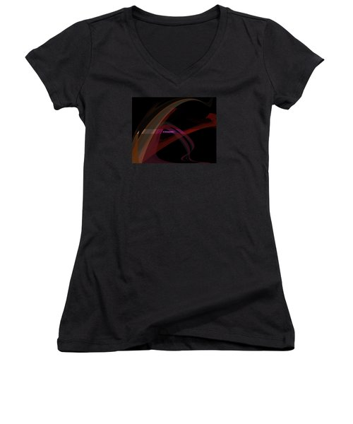 Women's V-Neck T-Shirt (Junior Cut) featuring the painting Penman Original-293- A Glimmer Of Hope by Andrew Penman