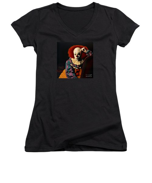 Pennywise Women's V-Neck T-Shirt (Junior Cut) by Paul Meijering