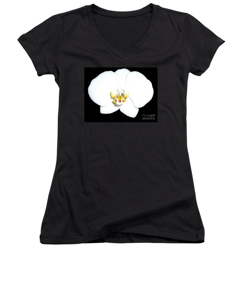 Perfect White Orchid Women's V-Neck T-Shirt