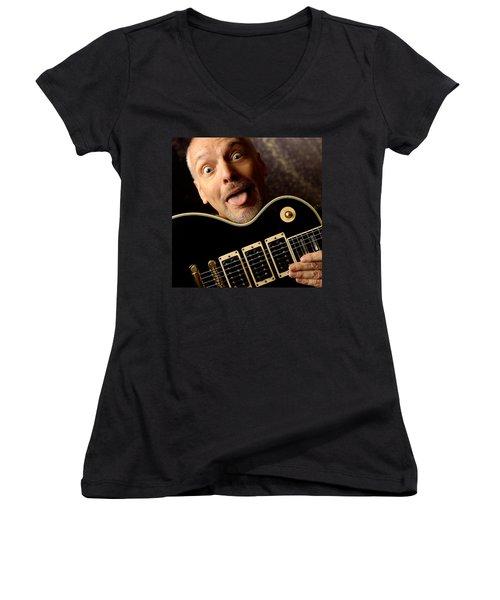 Peter Frampton By Gene Martin Women's V-Neck T-Shirt