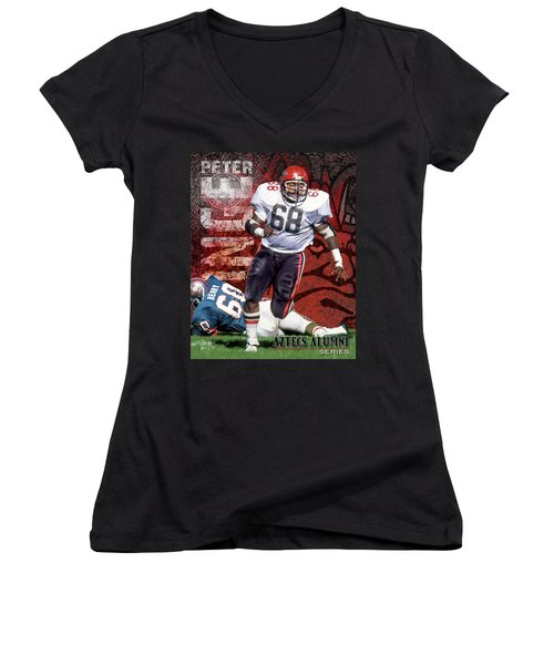 Women's V-Neck T-Shirt (Junior Cut) featuring the photograph Peter Inge by Don Olea