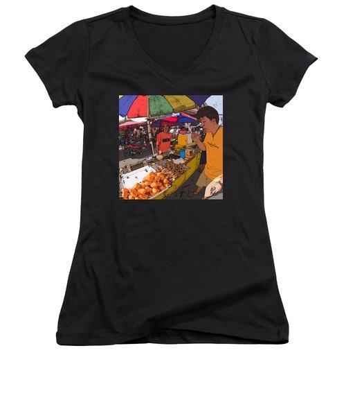 Philippines 1299 Street Food Women's V-Neck
