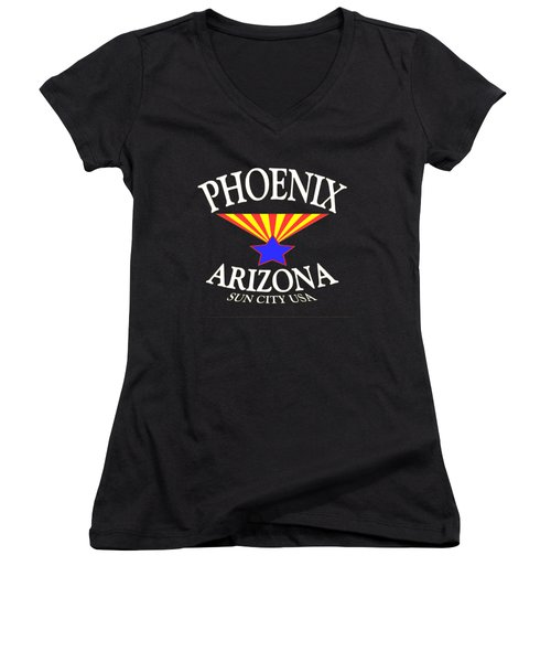 Phoenix Arizona Design Women's V-Neck T-Shirt