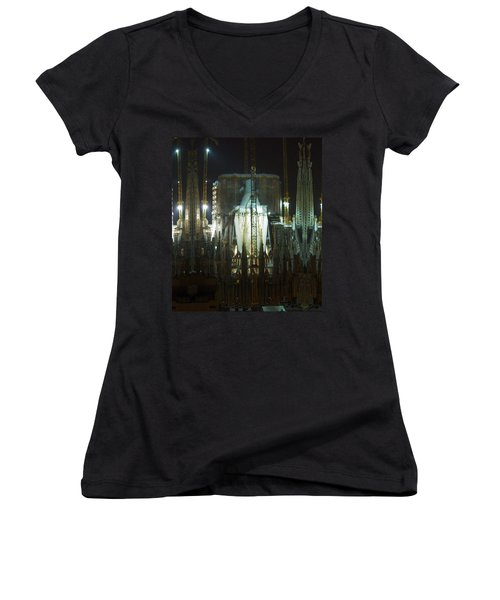 Photography Lights N Shades Sagrada Temple Download For Personal Commercial Projects Bulk Printing Women's V-Neck (Athletic Fit)