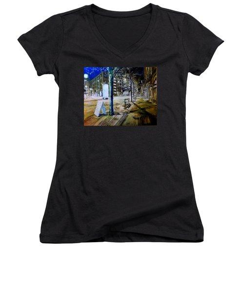 Piccadilly Gardens, Manchester Women's V-Neck T-Shirt