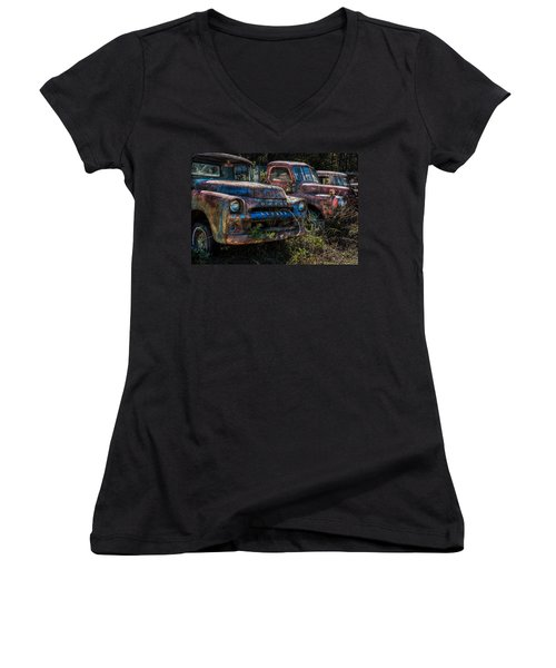 Pickup Line Women's V-Neck (Athletic Fit)