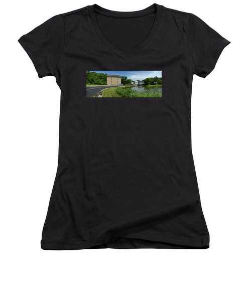 Pickwick Mill Panorama Women's V-Neck T-Shirt (Junior Cut) by Janice Adomeit