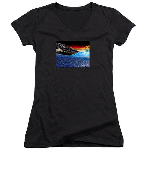 Pictures From Venus Women's V-Neck T-Shirt (Junior Cut) by Rebecca Margraf