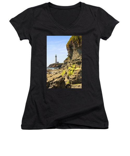 Pidgeon Point Lighthouse Women's V-Neck