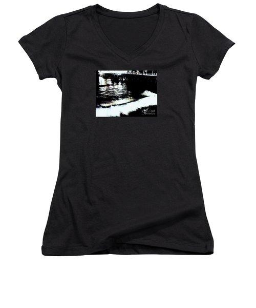 Pier Women's V-Neck T-Shirt (Junior Cut) by Vanessa Palomino