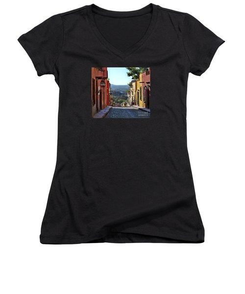 Pila Seca Women's V-Neck T-Shirt (Junior Cut) by John  Kolenberg