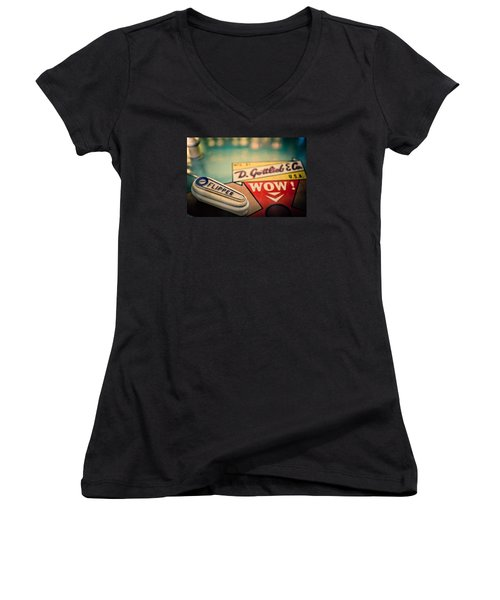 Pinball - Wow Women's V-Neck T-Shirt