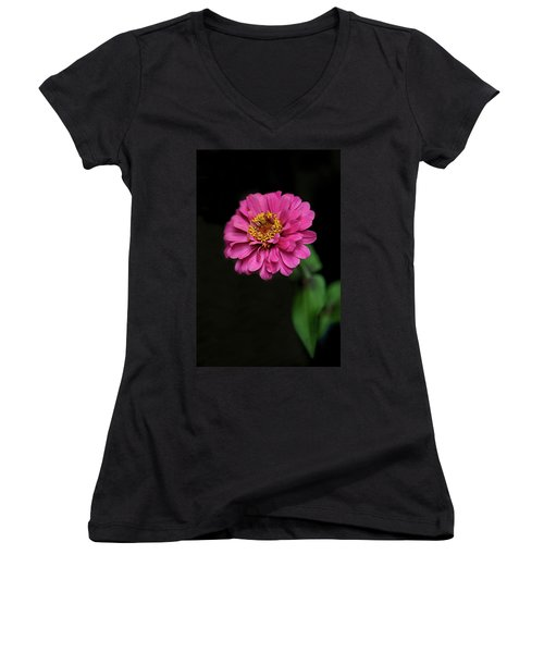 Pink Zinnia Women's V-Neck (Athletic Fit)