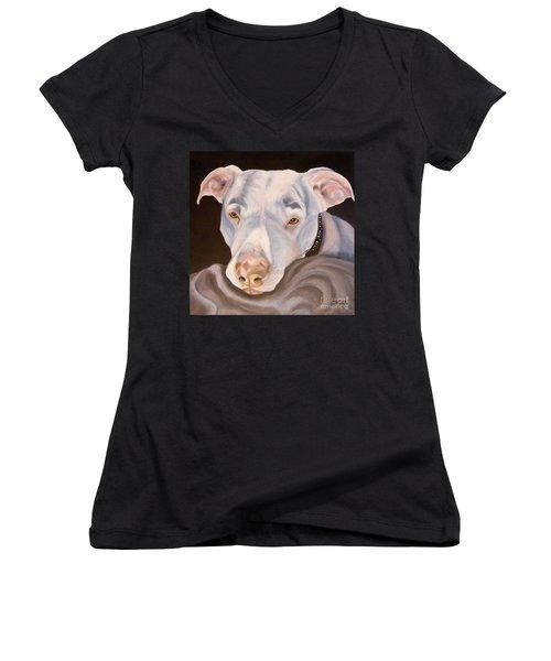 Pit Bull Lover Women's V-Neck T-Shirt