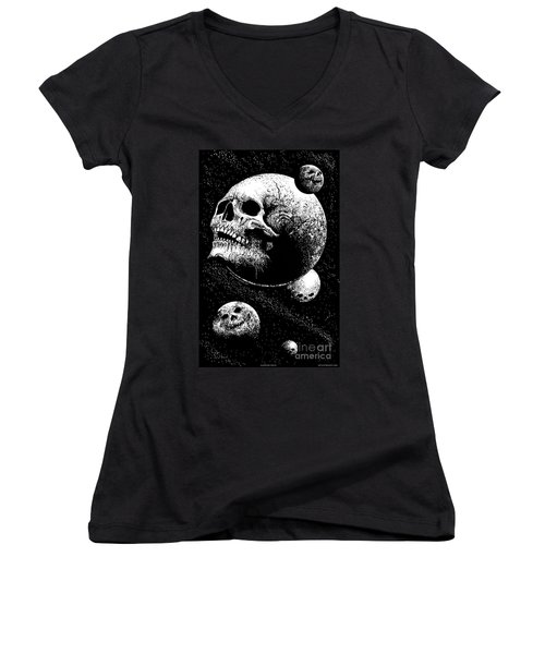 Planetary Decay Women's V-Neck (Athletic Fit)
