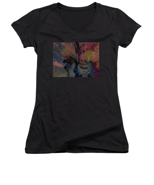 Plants In The Mirror Women's V-Neck (Athletic Fit)