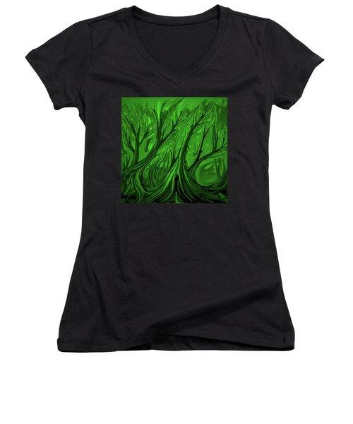 Play Green #h6 Women's V-Neck