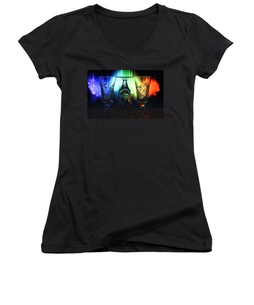 Play Of Glass And Colors Women's V-Neck