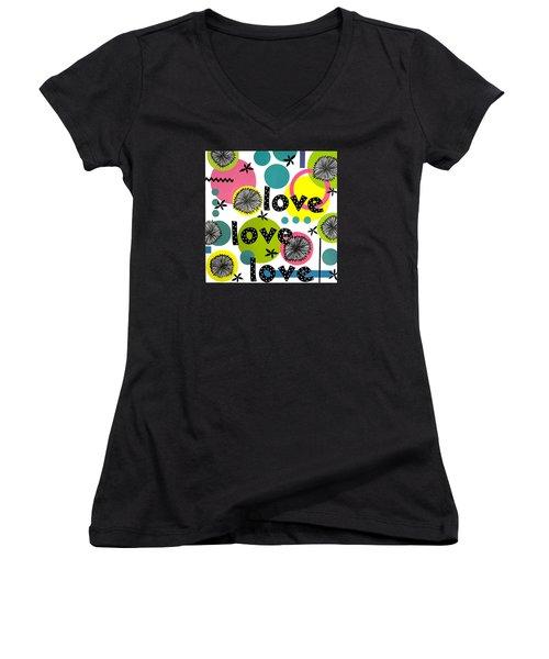 Playful Love Women's V-Neck T-Shirt