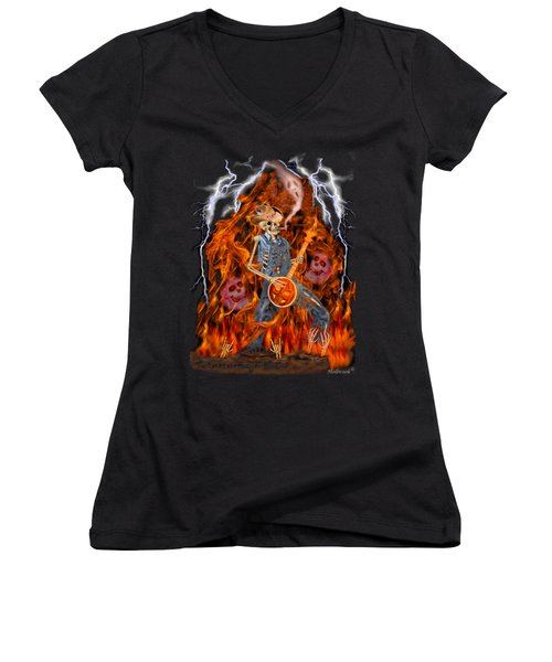Playing With Fire Women's V-Neck (Athletic Fit)