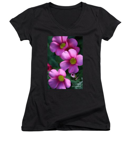 Playing With Shadows Women's V-Neck T-Shirt (Junior Cut) by Kym Clarke