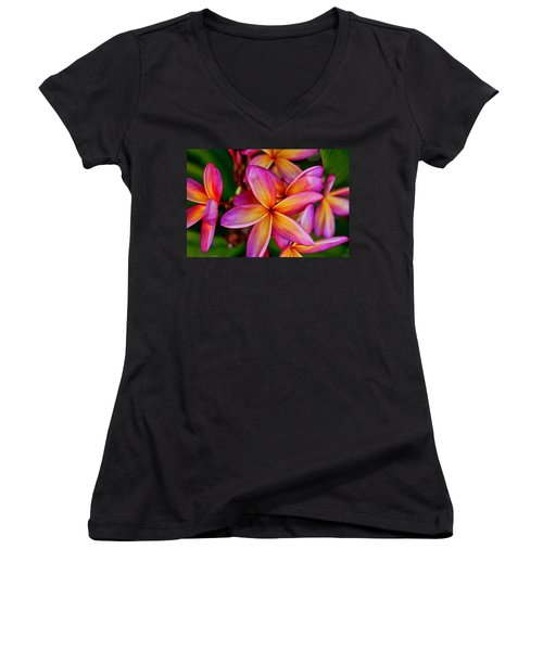 Plumeria Women's V-Neck (Athletic Fit)