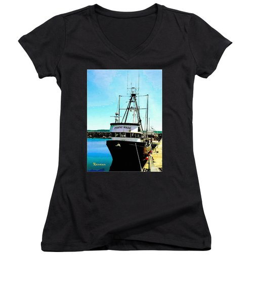 Point Made At Pt Townsend Wa Women's V-Neck (Athletic Fit)